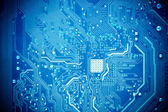 Blue circuit board — Foto de Stock