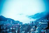 Winter mountain city — Stock Photo