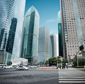 View of the lujiazui financial center in shanghai — Stock Photo