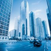 Modern city in shanghai — Stock Photo