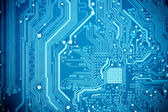Blue circuit board — Stock Photo