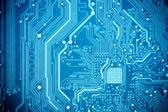 蓝色电路板 — 图库照片