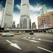 The street scene in shanghai — Stock Photo