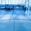 Modern hall inside the airport — Stock Photo