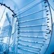 Futuristic glass staircase — Stock Photo #8682105