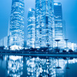 Night scene of shanghai financial center greenbelt — Stock Photo #8682893
