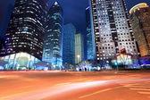 Shanghai financial center at night — Stock Photo