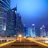 Night scene on the flyover in shanghai — Stock Photo