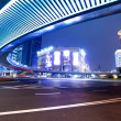 Modern city at night in shanghai — Stock Photo