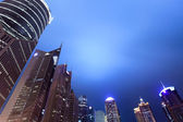 Shanghai financial center district at night — Stock Photo
