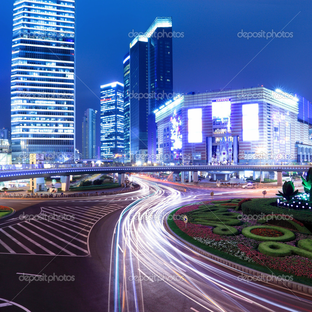 Night scene of the prosperous city in shanghai,China — Stock Photo #8733551