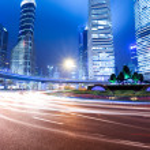 Shanghai lujiazui downtown at night — Stock Photo