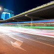 Beijing traffic at night - Stock Photo