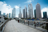 Shanghai financial center district — Stock Photo