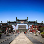 Beijing qianmen street — Stock Photo