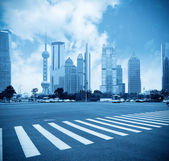 Century avenue in shanghai — Stock Photo