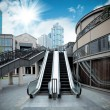 City outdoor escalator — Stock Photo