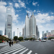 Century avenue in shanghai — Stock Photo #9120351
