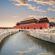 The forbidden city with gold water bridge — Stock Photo #9120719