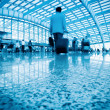 Business walking with motion blurred — Stock Photo