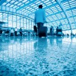 Business walking with motion blurred — Stockfoto