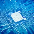 Royalty-Free Stock Photo: Circuit board with blue tone