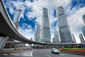 Shanghai pudong downtown landscape — Stock Photo