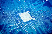 Circuit board with blue tone — Stock Photo