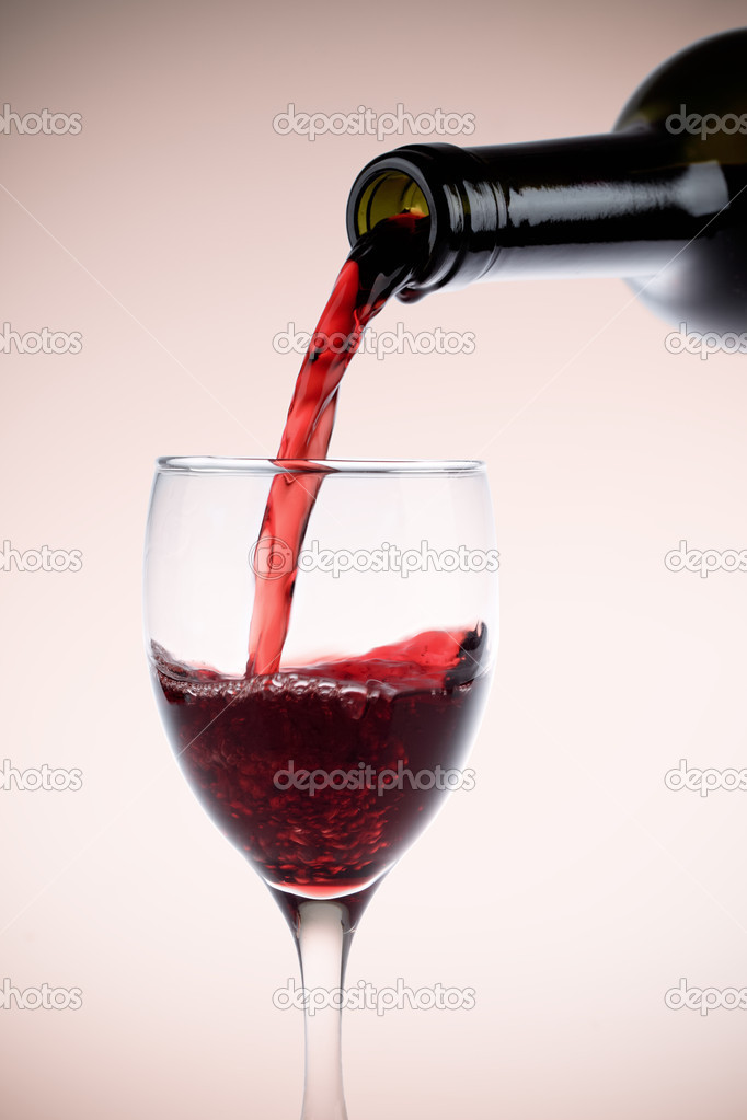 Red wine glass and bottle stock photo chungking 9120141 for Red glass wine bottles suppliers