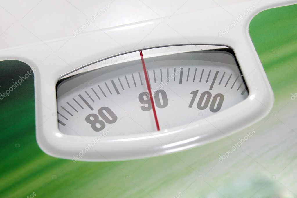 Indicator for determination of the weight in floor scales — Stock Photo #10300704