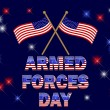 Armed Forces Day. - Stok Vektr