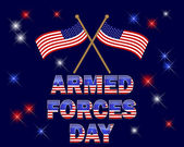 Armed Forces Day. — Vettoriale Stock