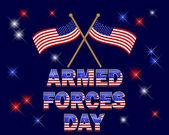 Den ozbrojených sil. — Stock vektor