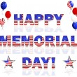 Happy Memorial Day! — Imagen vectorial