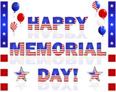 Happy Memorial Day! — Vector de stock