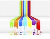 Paint dripping. — Stockvector
