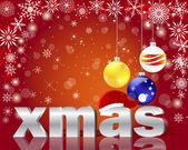 圣诞贺卡与银字圣诞. — 图库矢量图片
