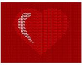Text ve tvaru srdce. — Stock vektor