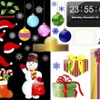 New year and Christmas icons. — Grafika wektorowa