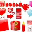 Set of icons for Valentine - Stock Vector