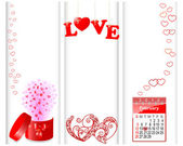 Valentine's day banners. — Vector de stock