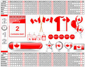 Calendar of 2012. Canada Day. — Stock Vector