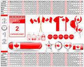 Calendar of 2012. Canada Day. — Stock Vector