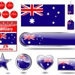 Australien dag ikoner — Stockvektor