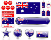 Australia Day icons. — Stock Vector