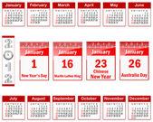 Calendar for 2012. — Stockvektor