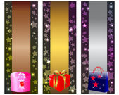 Holiday banners. — Stock Vector