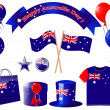 Australia day. Website icons. — Stock Vector