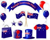 Australia day. Website icons. — Stock Vector