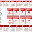 Calendar for 2012. — Vettoriali Stock